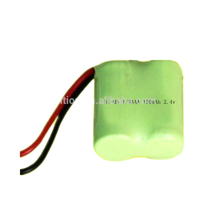 Rechargeable Battery Pack 2.4V 150mAh Ni-MH 1/3AAA