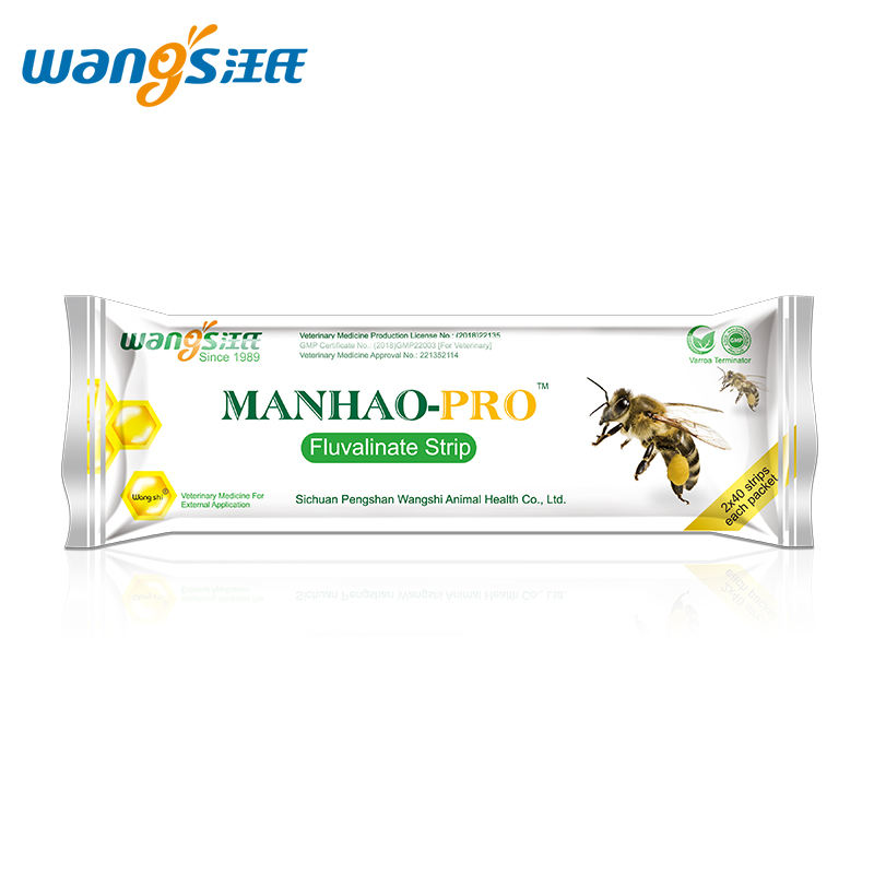 Wangshi MANHAO-PRO fluvalinate strip bee medicine for varroa mite control