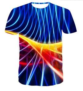 Free Shipping New Fashion Design 3D Full sublimation Printing Knit Polyester Custom Men T Shirts