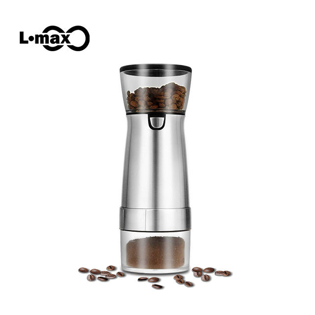 New arrival customized industrial professional portable usb automatic mini electric bean coffee grinder for sale