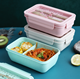 Box Food Japanese Leakproof Wheat Straw Plastic Lunch Box Bento Food Container For Student Microwave Safe