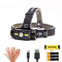 New outdoor high power L2 waterproof head light camping military hiking USB rechargeable motion sensor induction led headlamp