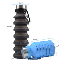 Creative Design Product 550ML Foldable Silicone Coffee Cup Collapsible Sports Water Bottle
