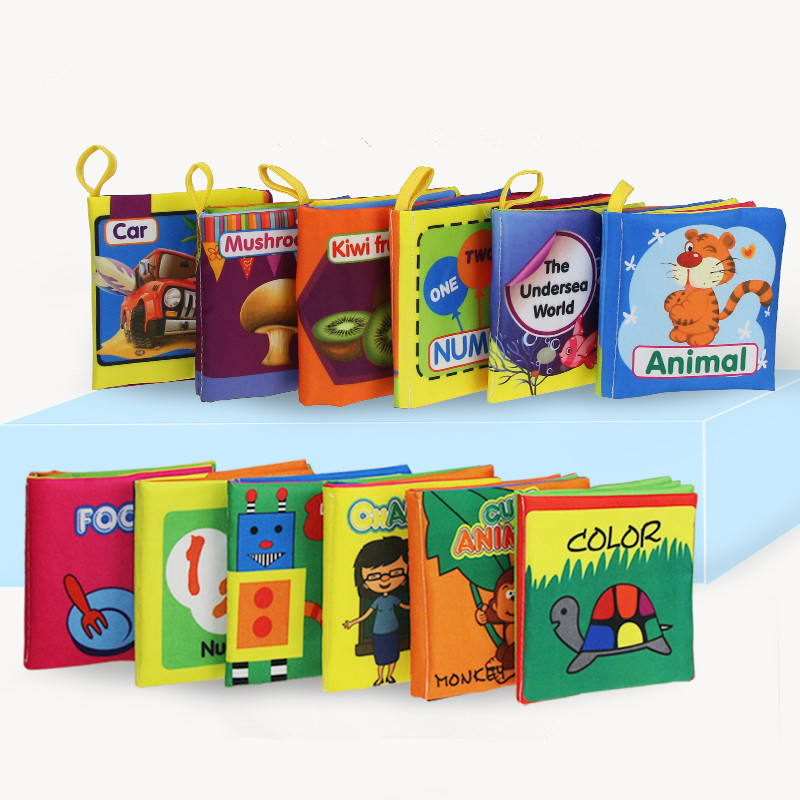 Wholesale baby enlightenment stereoscopic books children tear not bad educational toys early education small cloth book