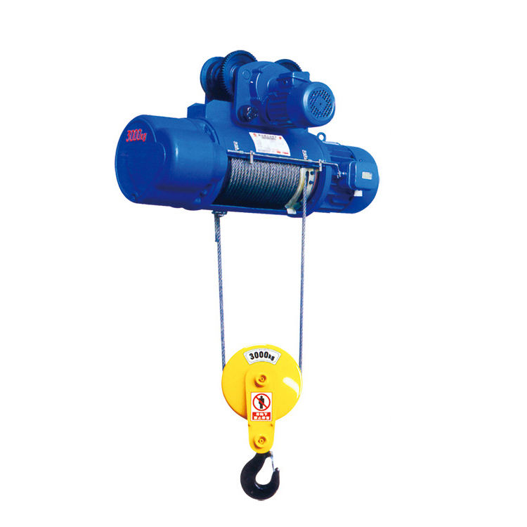 Explosion-proof hand control 3t low price wire rope hoist with electric trolley