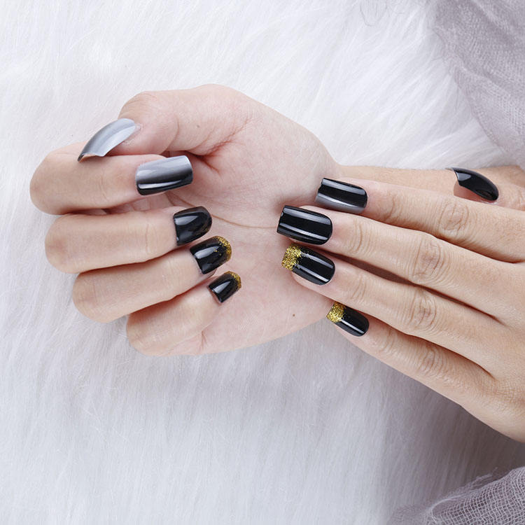 Private Label Korea Kids Thin Glossy Glaze Glass Acrylic Uv High Quality Low Price Gel Nail Tips