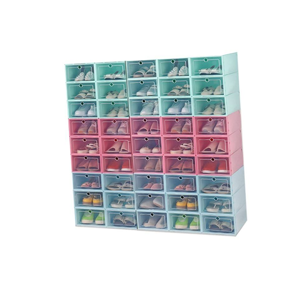 High Quality Storage+Boxes+ Clear custom baby shoe box, Top Sale Stackable Storage Bins drop front sneaker shoe box storage