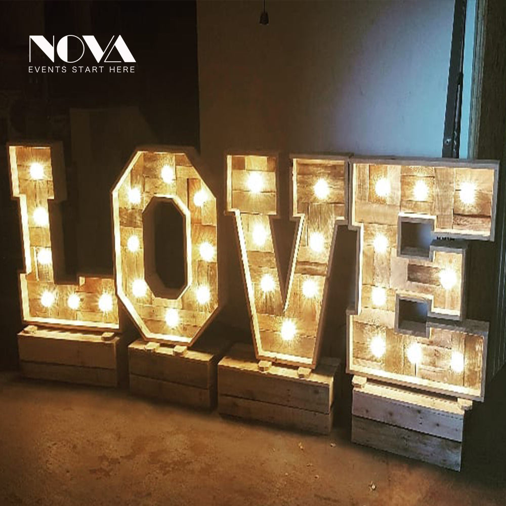 High quality light up numbers lighted letters for party christmas