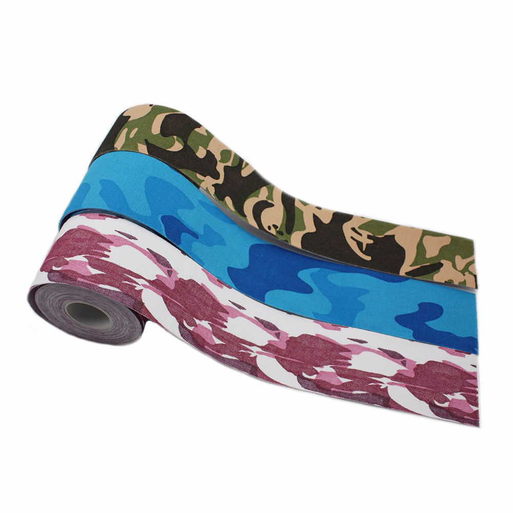 Elasticity Therapy Sports Safty Camo Colors Medical Kinesiology Tape