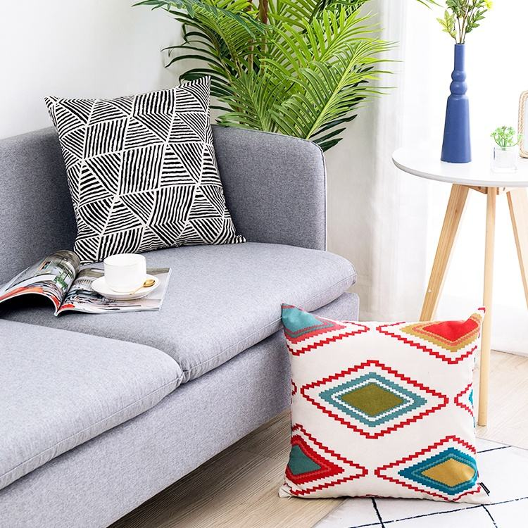 Geometric pattern printing cushion cover wholesale 1 piece minimum order