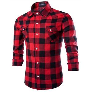 Mens Button Down Regular Fit Long Sleeve Plaid Flannel Casual Shirts