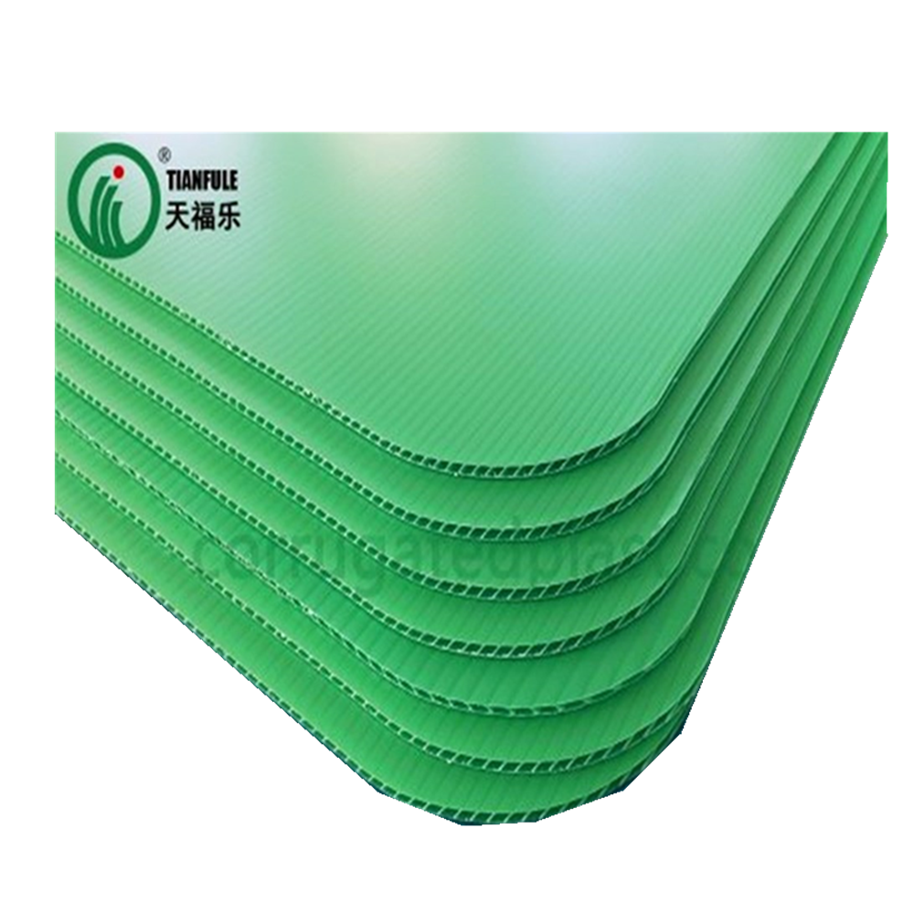 Polypropylene corrugated plastic pallet layer pads