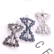 New design circle retro style  accessory with rhinestone bow triangle multi shaped hair clips