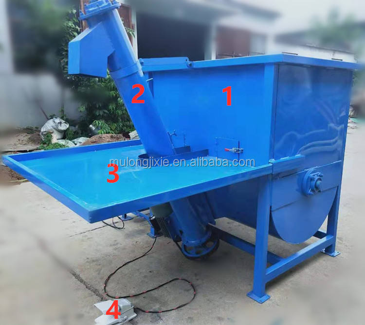 Household simple filling machine, gardening potting soil, edible fungus bagging, powder or granular raw materials