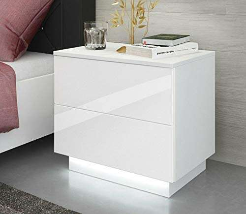 High Gloss Bedroom Bedside Cabinet Night Stand