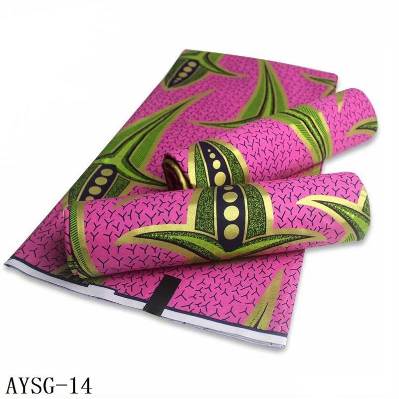 Super gold ankara print african 100% cotton wax prints golden wax fabric