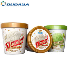 Wholesale Eco Friendly Durable Freeze 350g  Custom ice cream cup printing tub