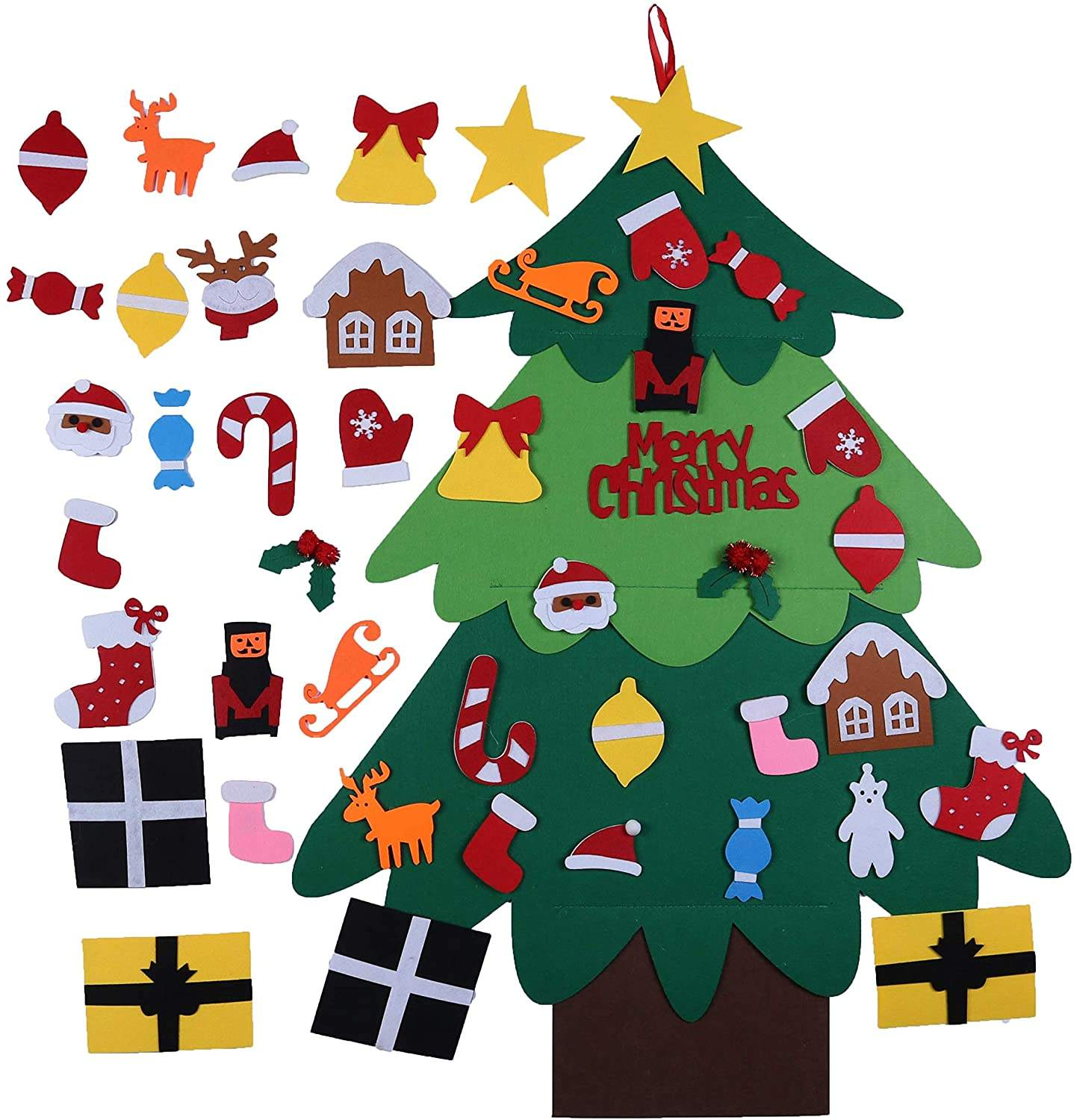 DIY Felt Christmas Tree for Kids with 22 Pcs Detachable Ornaments