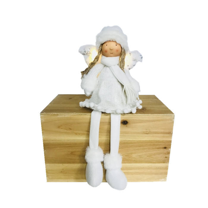 Christmas Day Decorations Cute Girl doll wool yarn Christmas For Outdoor Decor
