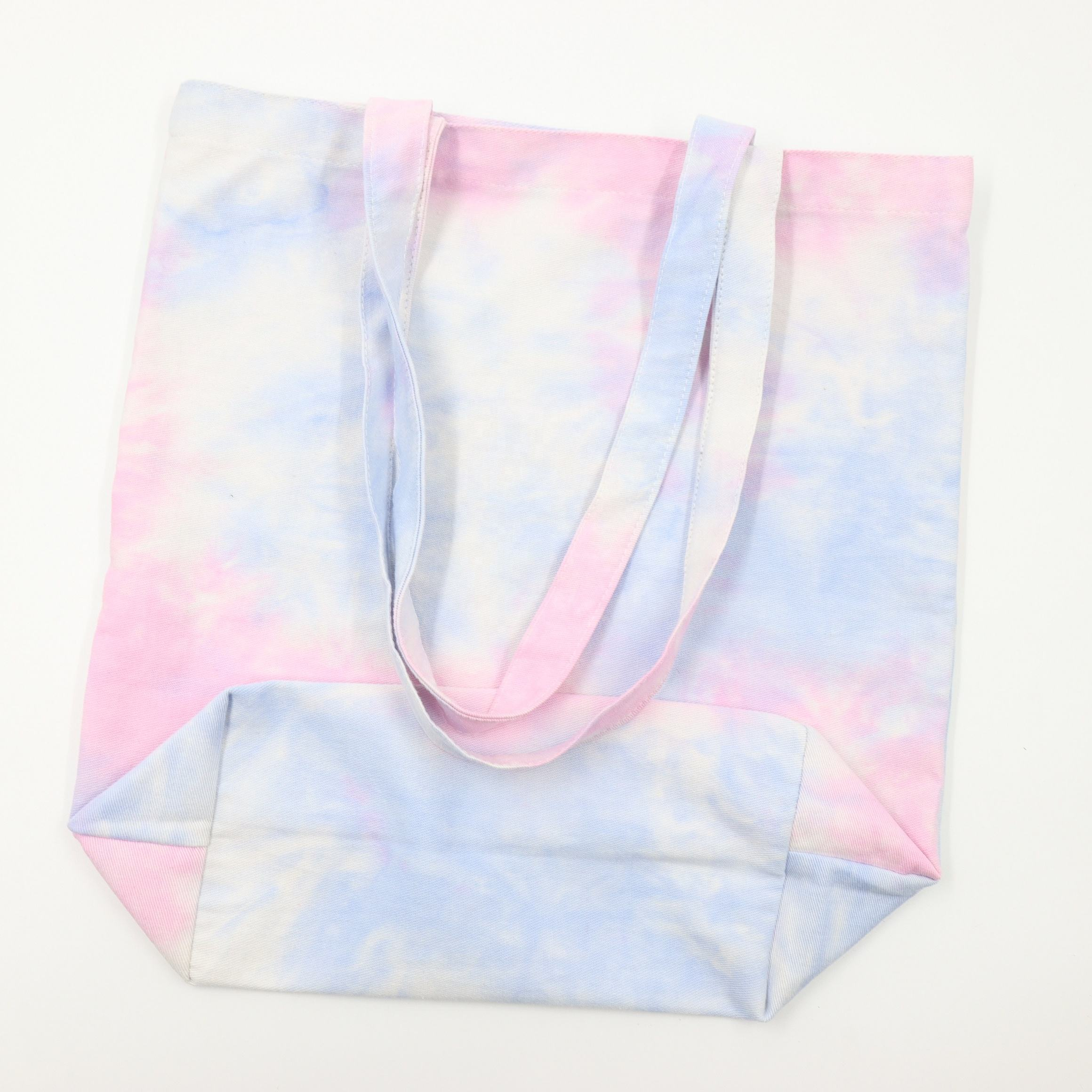 Fashion Tie dye bags cotton handbags shopping bag custom tote
