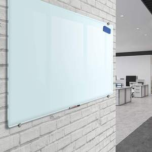 Magnetic Glass Board 45 x 33 Inches Dry Erase Whiteboard Dry Eraser for School Home Glass Wall Mounted Whiteboard