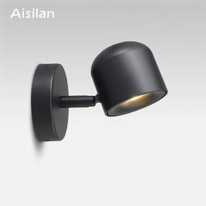 Aisilan BD22 Modern Simple COB 7W Adjustable Aluminum Led Wall Lamp for Hotel Room Indoor COB Led Wall Light