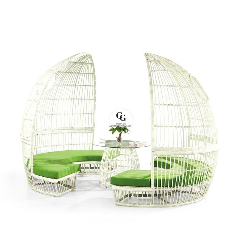 Muebles de jardín Muebles de Casa de ocio formas al aire libre Gazebo de Muebles al aire libre <span class=keywords><strong>blanco</strong></span> Muebles es <span class=keywords><strong>Ratan</strong></span>