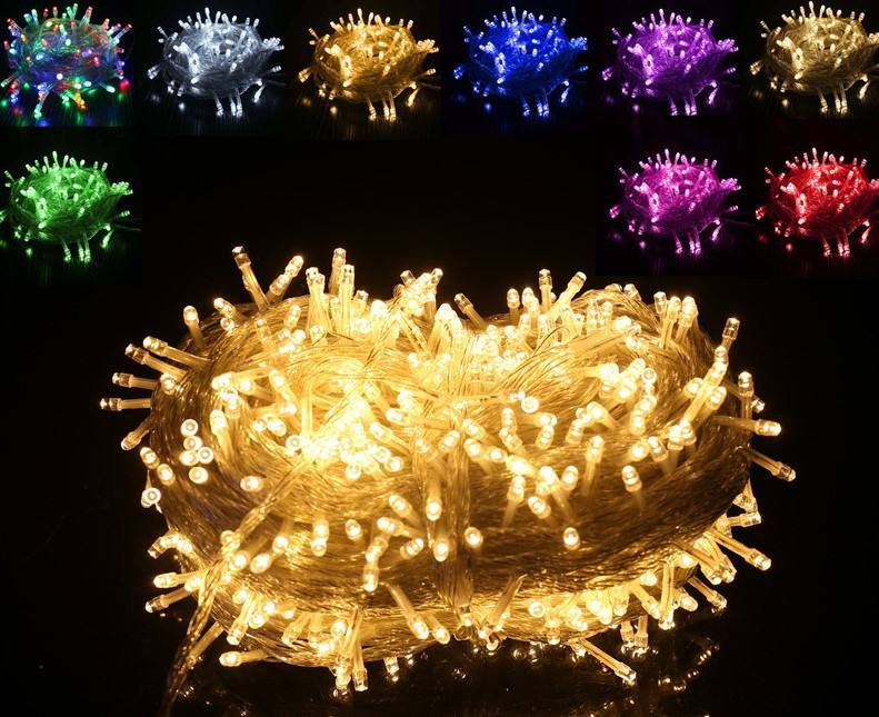 Multicolor luces led de navidad christmas decoration fairy string light outdoor for xmas events festiva holiday party halloween