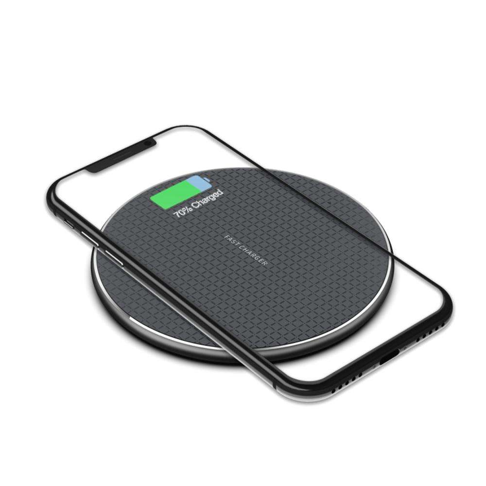 Custom Logo Gift For Promotion 10W Qi Enabled Wireless Charging Universal Mobile Phone Wireless Charger