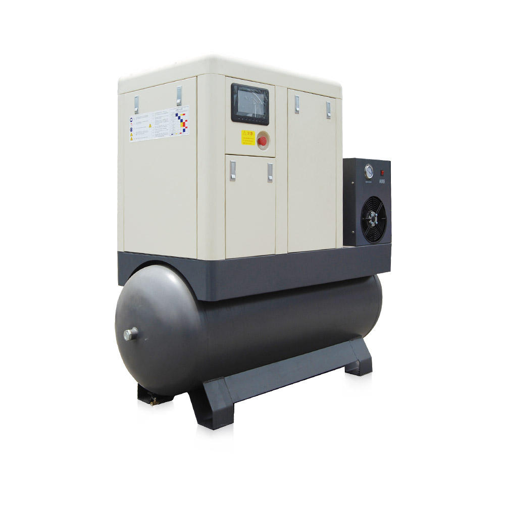 JFPM15ATD-20ATD Permanent Magnetic Motor Pm Vsd Screw Compressor With Air Dryer Tank