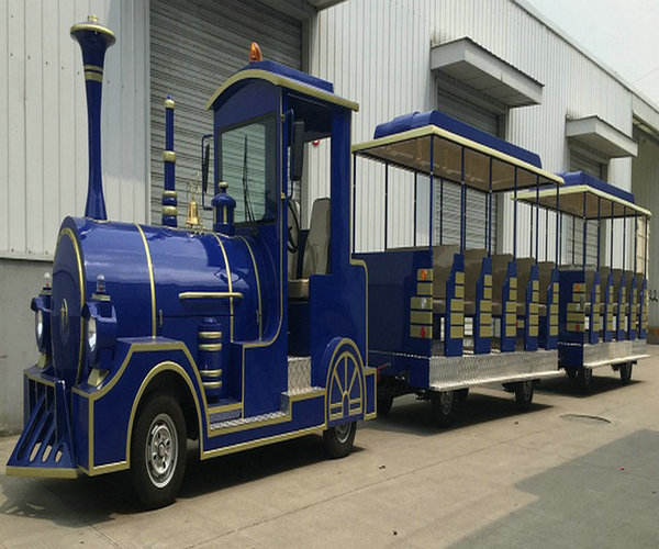 Electric Sightseeing Trackless Truck Train Carriage For Amusement Park