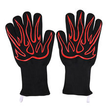 Long Kitchen Silicone BBQ Gloves Xingyu Silicone Oven Mitts Silicone BBQ Gloves Heat Resistant