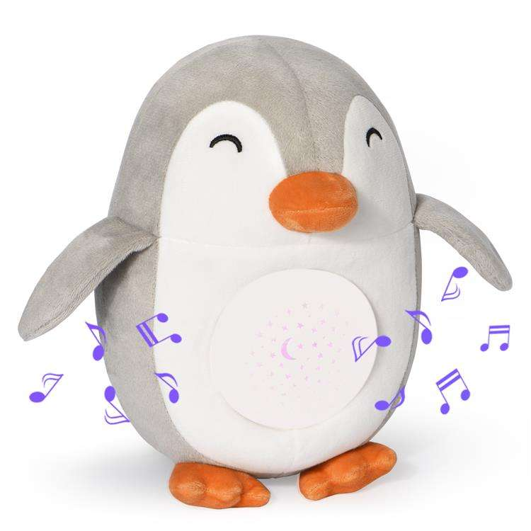 Rechargeable Battery Cry Sensor Function Penguin Baby Soother Sleep White Noise