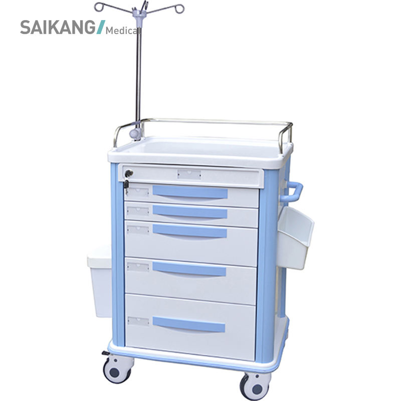 SKR038-ET Low Price ABS Surgical Instrument Nursing Trolley