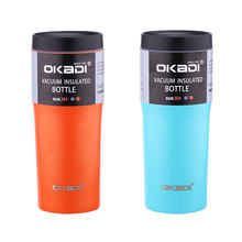 New Product Ideas 16ooz Keep Hot and Cold Powder Coated Double Wall Stainless Steel Tumbler Cup with lid