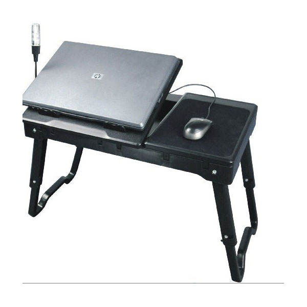 2020 Hot Selling Adjustable Laptop Desk Portable Laptop Bed Table with Fan Home Working Folding Laptop Desk