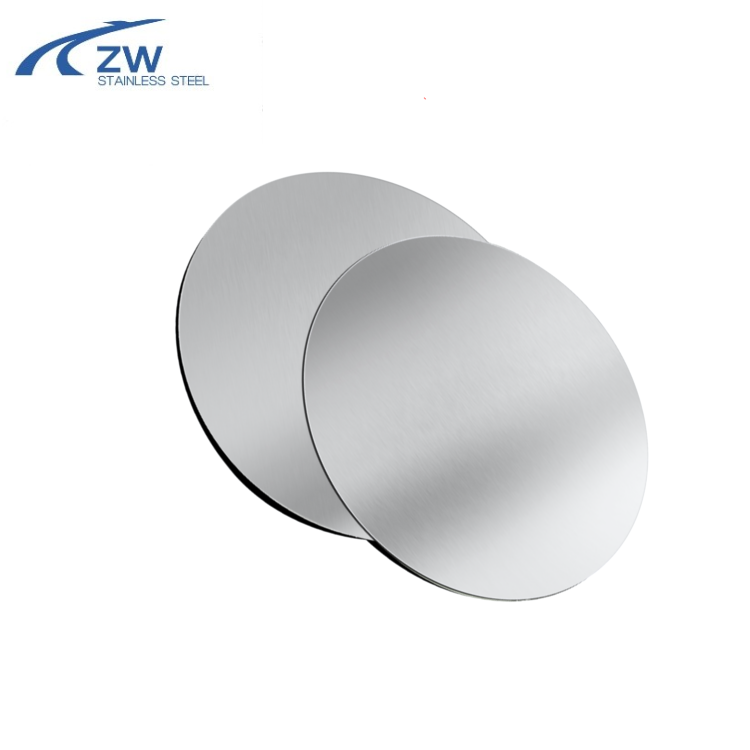 China factory supply AL and SS 304 1050 430 triply circle round plate / stainless steel circle for cookware
