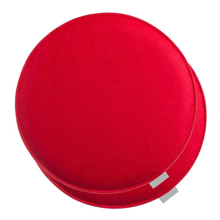 Wholesale colorful felt seat cushion pad with foam filling