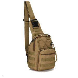 Survival gear bundle molle tactical military travel utility one shoulder bag hiking small tactical sling backpack