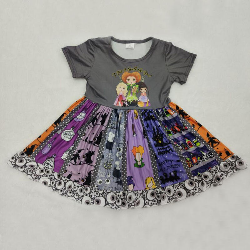 2019 Summer 0-16 Years Kids Girl Dress Child Skirt Frock Design Casual Hocus Pocus Girls Dresses Baby Apparel