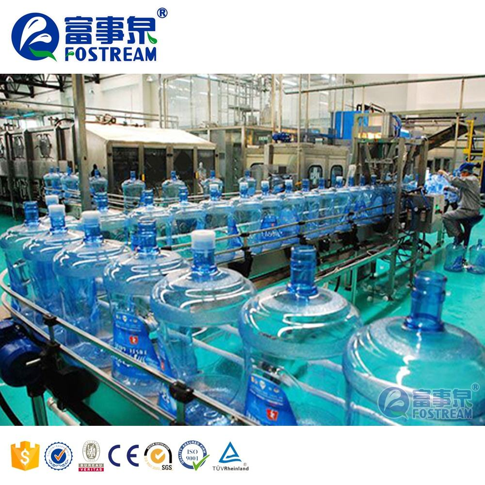 Full Automatic 20 Liter 5Gallon Bottle Bucket Pure Water Production Line 20l Jar 5 Gallon Water Filling Machine