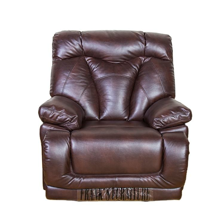 Custom Vintage Luxury Brown Genuine Leather Recliner Chair