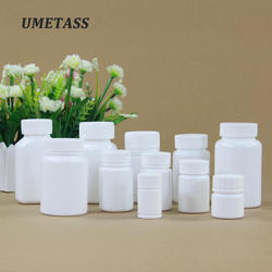 For sale child proof empty container medicine health care pharmaceutical white round bottles biodegradable plastic pill capsule