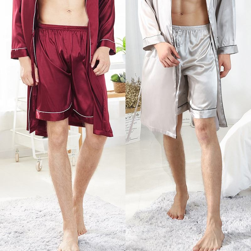 Summer Men's Pajamas short Sleepwear Pants Male Homewear Bottoms Men shorts
