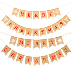 Good quality Handmade merry christmas bunting banner party decorative with low price