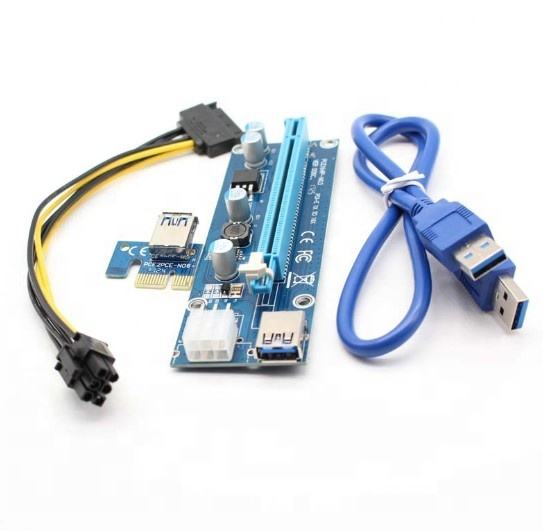Factory VER 006 PCI-E x1 to x16 USB 3.0 Extender Cable Riser Card ver006c