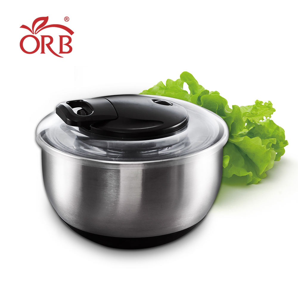 Kitchen manual pull cord stainless steel salad spinner