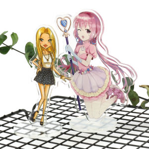 2020 VOGRACE fashion custom cheap cartoon anime acrylic standee clear transparent printing stand keychains as promotional gift