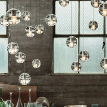 Modern design Solid Bubble Crystal Clear Glass Balls Project led modern Chandelier
