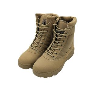 Sweat Absorption Man Army Shoes Leather Combat Desert Steel Toe And Plate Work Boots